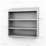 Open Wall Mount Stainless Casework | Steel Overhead Shelving