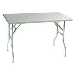 "24"" x 60"" Open Base, Lok-N-Fold Stainless Steel Table, 450 Lbs Weight Capacity, #SMS-88-T2460F"