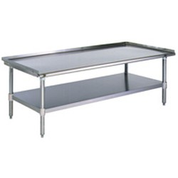 "24-3/8"" x 72-3/8"" Griddle Equipment Stand with Stainless Steel Legs and Undershelf, 6 Legs, Weight Capacities with: Bullet Feet 960 Lbs., Optional, #SMS-88-T2472SGS"