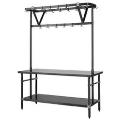 "136"" Stainless Steel Table Mounted Rack, #SMS-88-TM144PR"