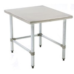 "24"" x 24"" Mixer Stand, Stainless Steel Legs and Tubular Base, #SMS-88-TMS2424S"