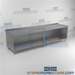 "24"" x 120"" Spec-Master® Enclosed Worktable with Upturn and Open Front, #SMS-88-UOB24120SE"