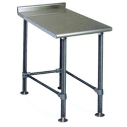 "24"" x 12"" Spec-Master® Filler Table with Rear Upturn and 4 Legs, #SMS-88-UT2412STE"