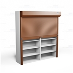 tambour doors for metal shelving