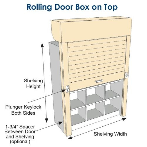 Roll Up Shelving Doors Locking Tambour For Shelves Sms