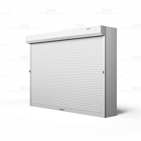 Roll Up Motorized Shelving Doors Security Doors For Wood Shelving