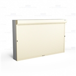 "Securing Shelving with Doors, Front Mounted (Fits 126-1/8""-132"" W x 48""-79""H Shelving), #SMS-89-079132FRT"