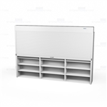 "Securing Files with Large Pull Down Shelving Doors, Top Mounted (Fits 126-1/8""-132"" W x 79-1/8""-91""H Shelving), #SMS-89-091132TOP"