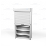 powered storage shelving doors