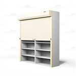 "Locking Universal Shelving Doors, Front Mounted (Fits 126-1/8""-132"" W x 100-1/8""-124""H Shelving), #SMS-89-124132FRT"