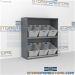 "2-Tier Angled Shelf Bulk Sort unit 48-1/8""w x 20""d x 42""h, #SMS-90-AB482042"