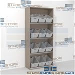 "4-Tier Angled Shelf Bulk Sort unit 48-1/8""w x 20""d x 81""h, #SMS-90-AB482081"