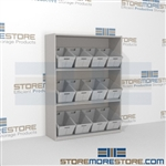 "3-Tier Angled Shelf Bulk Sort unit 59-13/16""w x 20""d x 61""h, #SMS-90-AB602061"