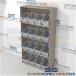 "4-Tier Angled Shelf Bulk Sort unit 59-13/16""w x 20""d x 81""h, #SMS-90-AB602081"