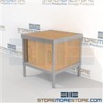 Mail center sorting cabinet consoles with lower doors are a perfect solution for mail processing center built for endurance and is modern and stylish design skirts on 3 sides Full line for corporate mailroom Perfect for storing mail machines and scales