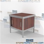 Increase employee moral with mail distribution consoles with doors all aluminum structural framework and variety of handles available wheels are available on all aluminum framed consoles Extremely large number of configurations Mix and match components