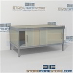 Mail center distribution consoles with sliding doors are a perfect solution for interoffice mail stations durable work surface and lots of accessories wheels are available on all aluminum framed consoles Back to back mail sorting station Hamilton Sorter