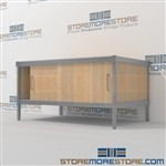 Organize your mailroom with mail room equipment consoles and variety of handles available built using sustainable materials In Line Workstations Let StoreMoreStore help you design your perfect {mailroom | literature processing | mail sorting} system