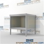 Mail workbench with full shelf is a perfect solution for incoming mail center built for endurance with an innovative clean design built using sustainable materials Full line for corporate mailroom Let StoreMoreStore help you design your perfect mailroom