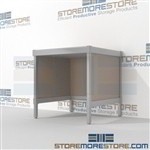 Mail center workstation is a perfect solution for corporate mail hub durable design with a structural frame with an innovative clean design all consoles feature modesty panels located at the rear Full line of sorter accessories Communications Furniture