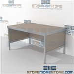 Mail center sorting work table is a perfect solution for mail processing center built strong for a long durable work life with an innovative clean design quality construction In line workstations Perfect for storing literature like catalogs and brochures