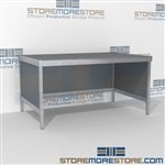 Mail mobile desk is a perfect solution for mail processing center all aluminum structural framework with an innovative clean design wheels are available on all aluminum framed consoles Over 1200 Mail tables available Easily store sorting tubs underneath