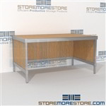 Basic mail center workstation is a perfect solution for mail & copy center durable design with a strong frame with an innovative clean design wheels are available on all aluminum framed consoles 3 mail table heights available Efficient mail center table