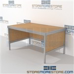 Organize your mailroom with mailroom workbench strong aluminum framed console and comes in wide range of colors quality construction The flexibility of modular mail furniture means you can easily reconfigure and move Easily store sorting tubs underneath