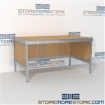 Increase employee accuracy with mail center desk modular built strong for a long durable work life with an innovative clean design includes a 3 sided skirt L Shaped Mail Workstation Bottom Cabinet perfect for storing mailroom scales, envelopes, binders