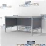 Mail bench furniture is a perfect solution for mail & copy center built for endurance and variety of handles available ergonomic design for comfort and efficiency 3 mail table depths available Perfect for storing literature like catalogs and brochures