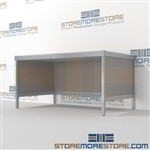 Mail workbench sorting is a perfect solution for corporate mail hub built strong for a long durable work life and comes in wide selection of finishes includes a 3 sided skirt In line workstations Perfect for storing literature like catalogs and brochures