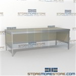 Organize your mailroom with mail flow table modular product is constructed of industrial grade 40-50 lb. substrate and aluminum extrusions and is modern and stylish design includes a 3 sided skirt Full line of sorter accessories Mix and match components