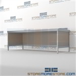 Increase efficiency with mail room bench equipment durable design with a structural frame and variety of handles available built from the highest quality materials Back to back mail sorting station Let StoreMoreStore help you design your perfect mailroom