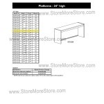"Closed Back Platform 36-7/16""w x 16-7/8""d x 24""h, #SMS-90-E361624"