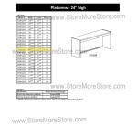 "Closed Back Platform 48-1/8""w x 12-7/8""d x 24""h, #SMS-90-E481224"