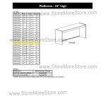 "Closed Back Platform 56-1/8""w x 12-7/8""d x 24""h, #SMS-90-E551224"