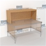 "Closed Back Platform 59-13/16""w x 16-7/8""d x 24""h, #SMS-90-E601624"