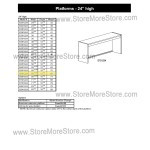 "Closed Back Platform 69-13/16""w x 12-7/8""d x 24""h, #SMS-90-E691224"