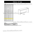 "Closed Back Platform 71-1/2""w x 12-7/8""d x 24""h, #SMS-90-E721224"