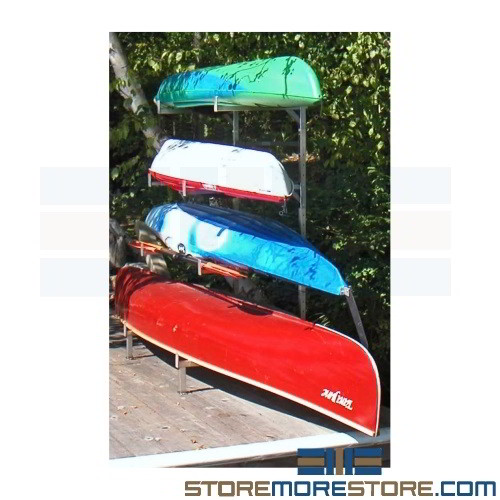 Alternative Views  sc 1 st  StoreMoreStore & Stainless Canoe Kayak Storage Rack Freestanding Wakeboards Water ...