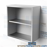 "30"" Stainless Wall Cabinet without Doors Steel Hanging Storage Shelves CO1430W"