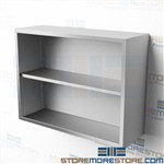 "42"" Stainless Wall Cabinet without Doors Open Storage Shelf Unit CO1442W"