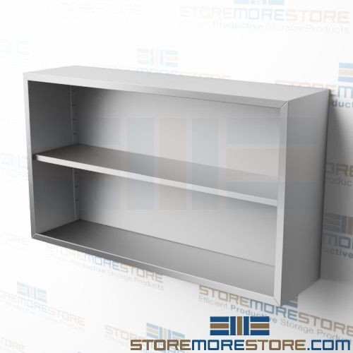 54 Open Hanging Wall Storage Shelves Extra Wide Cabinet Unit Co1454w Tarrison