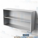 "60"" Stainless Wall Storage Cabinet Extra Long Upper Hanging Shelves CO1460W"