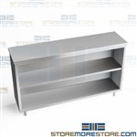 "60"" Stainless Counter Cabinet Storage Welded Base Unit Adjustable Legs DC1560"