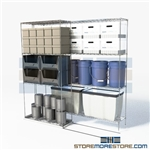 "Double Deep High Density Wire Shelving 2 times the depth rolling storage shelves SMS-94-LAT-2136-21 overall size is 1956.6 inches wide x 6' 6"" deep x 78 inches high"