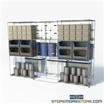 "Two Deep Gliding Wire Racking moving wire racks bulk item storage SMS-94-LAT-2136-32 overall size is 3174.7 inches wide x 9' 8"" deep x 116 inches high"