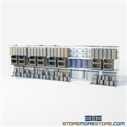 "2 Deep High Density Wire Shelves zinc wire rolling box shelves double deep SMS-94-LAT-2148-54 overall size is 6184.6 inches wide x 21' 1"" deep x 253 inches high"