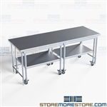 Space Saving Stainless Nesting Tables Rolling Stationary NT-3084-72 Ships Free