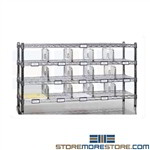Mailroom Sorting Rack Wire Mail Shelf Sorter MRSR1448C Tarrison